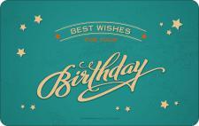 Geburtstag Frühstücksbrett - Best Wishes for your Birthday