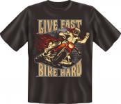 Motorrad T-Shirt - Live fast Bike hard