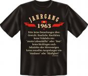 Geburtstag T-Shirt - Jahrgang 1963