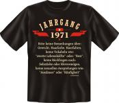 Geburtstag T-Shirt - Jahrgang 1971