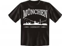 Deutschland T-Shirt - Skyline München Germany