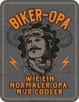 Humor Kühlschrankmagnet Cooler Biker Opa Kühlschrank Magnet Fun Schild Metall