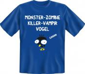 T-Shirt - Monster Zombie Killer Vampir Vogel
