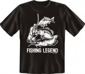 Angler T-Shirt - Fishing Legend Angel Shirt