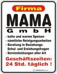 Humor Kühlschrankmagnet Firma Mama GmbH Kühlschrank Magnet Fun Schild Metall