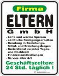 Fun Blechschild - Eltern GmbH