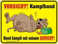 Fun Warnschild - Vorsicht - Kampfhund