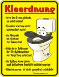Fun WC Schild - Kloordnung