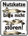 Katzen Fun Warnschilder - Nutzkatze