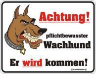 Warnschild - Achtung Wachhund