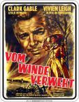 Filmklassiker Blechschild - Vom Winde verweht