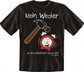 T-Shirt - Mein Wecker lebt gefährlich - Fun Shirts Geschenk geil bedruckt