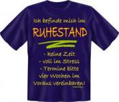 Geburtstag T-Shirt - Bin im Ruhestand