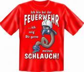 Fun T-Shirt - Feuerwehr Schlauch