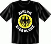 Bier T-Shirt - Diplom Bierologe
