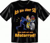 Geburtstag T-Shirt - Motorrad mit 50