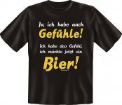 T-Shirt - Gefühle für Bier - Fun Shirts Geburtstag Geschenk geil bedruckt