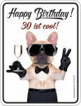 Blechschild 30 ist cool Geburtstag Geschenk Schild Alu geprägt bedruckt rostfrei