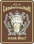 Humor Kühlschrankmagnet Bier hilft der Landwirtschaft Kühlschrank Magnet Schild