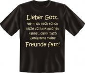 Fun T-Shirt - Freunde fett