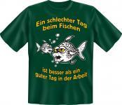 Angler T-Shirt - Schlechter Tag beim Fischen Angel Shirt