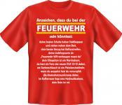 Fun T-Shirt - Anzeichen für Feuerwehr