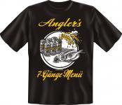 Angel T-Shirt - Angler's 7-Gänge-Menü