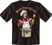geil bedrucktes Koch Fun T-Shirt Shirts - Küchengott - Geburtstag Geschenk Küche