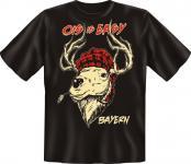 T-Shirt - Bayern Ois is Easy Hirsch Fun Shirts Geburtstag Geschenk geil bedruckt
