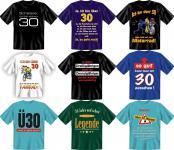 Fun Collection T-Shirt 30 Jahre Dreißig Shirt 30ter Geburtstag Geschenk bedruckt