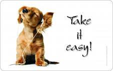 Brettchen - Hund Take it easy