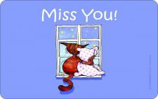 Brettchen - Katze Miss you