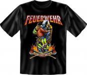 Feuerwehr T-Shirt Wir retten Leben 112 Geburtstag Geschenk Shirt geil bedruckt