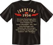 Geburtstag T-Shirt - Jahrgang 1954 - Fun Shirt Geschenk geil bedruckt