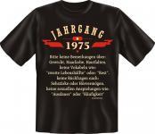 Geburtstag T-Shirt Jahrgang 1975 Fun Shirt Geschenk geil bedruckt