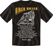T-Shirt - Biker Unser Bike Motorrad Fun Shirts Geburtstag Geschenk geil bedruckt