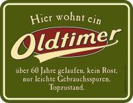 Geburtstag Blechschild Oldtimer 60 Jahre Topzustand Fun Schild geprägt bedruckt