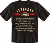 Geburtstag T-Shirt Jahrgang 1965 Fun Shirt Geschenk geil bedruckt