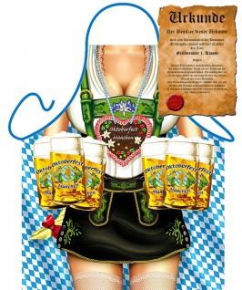 Grillschürze Bayern Tracht Alpen Oktoberfest Bier Grill Koch Schürze Kochschürze - Vorschau 2