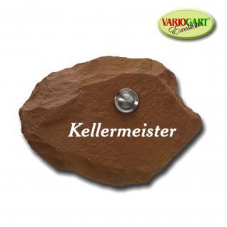 Türklingel / Klingelplatte in Sandstein-Rot aus Graphikstein® - Vorschau 2