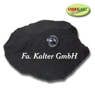 Türklingel / Klingelplatte in Schiefer-Anthrazit aus Graphikstein®