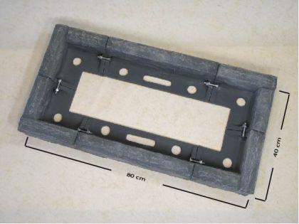 Grabeinfassung / Beeteinfassung Rechteck 80 x 40 cm - Vorschau 2