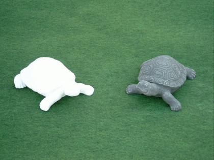 Gartenfigur Schildkröte aus Graphikstein - Vorschau 4