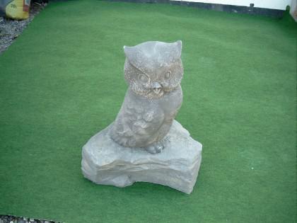 Gartenfigur Eule aus Graphikstein - Vorschau 3