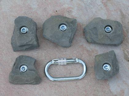 Klettergriffe Größe L Set Mangart 5-teilig