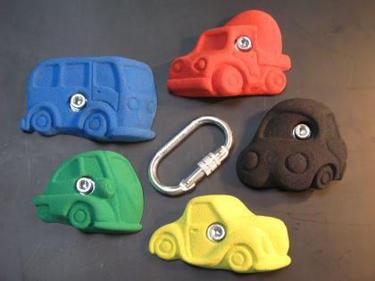 Klettergriffe Größe XL Set Autos 5-teilig