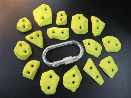 Klettergriffe Tritte Set Spax 15-teilig