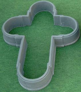 Kreuz aus Graphikstein, Grabschmuck, ohne Boden