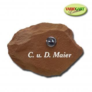 Türklingel / Klingelplatte in Sandstein-Rot aus Graphikstein® - Vorschau 1