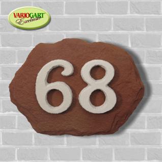 Hausnummer in Felsoptik